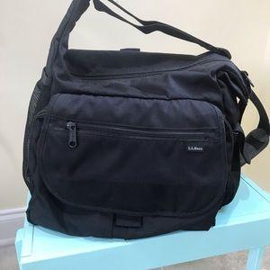 L.L. Bean black diaper bag